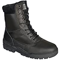 Savage Island Combat Boots Black Full Leather