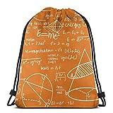 vintage cap Common Equations - Orange_44255 3D Print Drawstring Backpack Rucksack Shoulder Bags Gym Bag for Adult 16.9