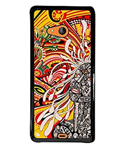 Fuson Designer Back Case Cover for Microsoft Lumia 540 Dual SIM (rounds circle art drawing artistic )