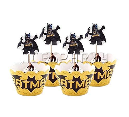 Party Favor Boxes - 24 ct Superhelden-Leckerlibeutel für Kinder Geburtstag Party Event Geschenk 11cm Cupcakw wrappers ()