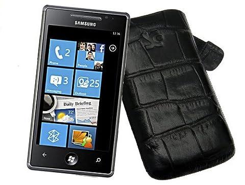 Original Suncase Tasche fuer - Samsung GT i8700 Omnia 7 - Leder Etui Case Huelle / Spezielle Anfertigung / In der Farbe