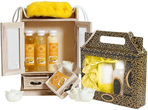 BRUBAKER 15 tlg. Pflegeset Badeset Beautyset Vanilla Lemon
