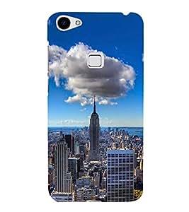FUSON New York Urban Skyscrapers 3D Hard Polycarbonate Designer Back Case Cover for Vivo X7