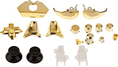 Magideal Set of 18 Replacement Controller Buttons Kit Set for Microsoft Xbox One Gold