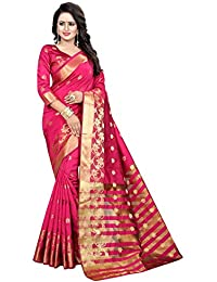 INDIAN BEAUTIFUL WOMEN'S ETHNIC WEAR PINK COLOUR SAREE WITH BLOUSE PIECE