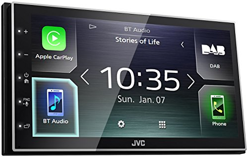 Jvc M745 DBT Digital Media Receiver con 17,3 cm capacitiva de Panel, Dab + y Bluetooth Negro