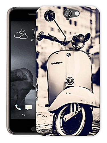 "Ulta Anda Retro Scooter Monochrome Printed Designer Mobile Back Cover For ""HTC ONE A9"" (3D, Matte Finish, Premium Quality, Protective Snap On Slim Hard Phone Case, Multi Color)"