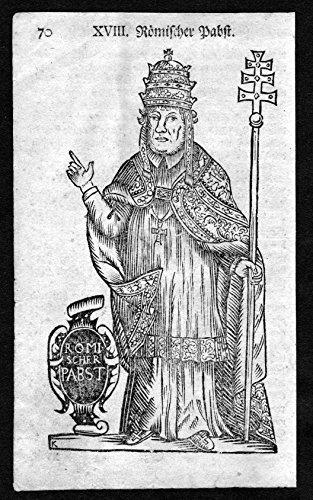 Römischer Papst - Rom Rome Roma Italy Italien Tracht Trachten costumes Holzschnitt antique print