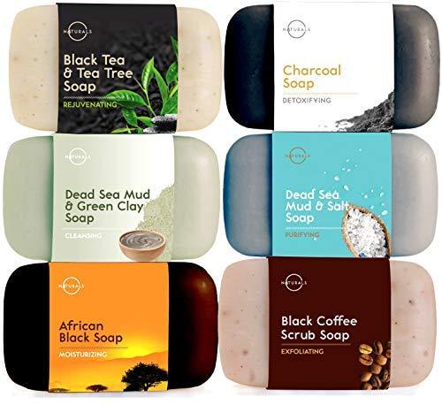 Colección 6 piezas Jabón Negro O Naturals.100% Natural.Ingredientes