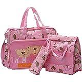 Fashion Multifunctional Package Baby Diaper Bags Large Capacity Waterproof Nappies Bag Mummy Bag Maternity Handbag Shoulder Bag Tote Messenger Bags-pink