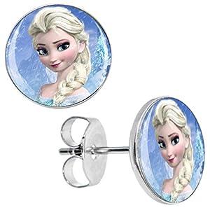 """Nina Selles® Ohrstecker""""Eiskönigin ELSA"""" ❤️ Disney Frozen – 10*mm – Ohrschmuck Antiallergisch NS-1145 NEU"""