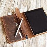 Personalized iPad Pro 10.5/9.7/12.9 leather cover portfolio detachable apple pencil holder iPad cover case for 2017 iPad Pro 9.7 / Pro 10.5/12.9 Luxury Leather portfolio Cover