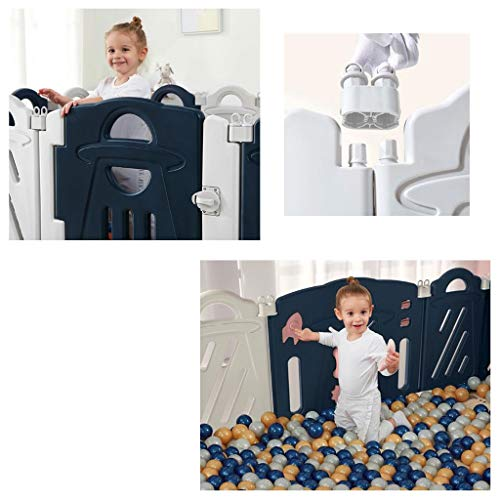 Baby Playpen HUYP Baby Fence Indoor Foldable Boy Girl Cartoon Safety 6 Months Or More (Size : 8 small pieces)  HUYP