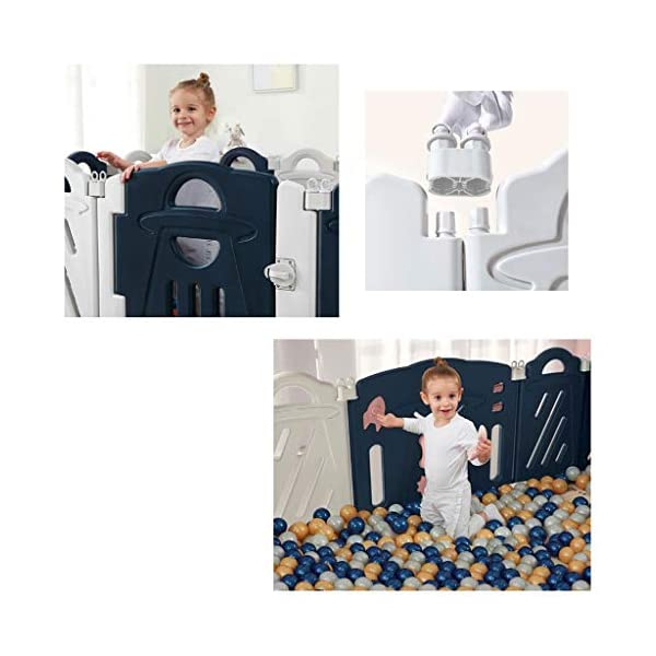 Baby Playpen HUYP Baby Fence Indoor Foldable Boy Girl Cartoon Safety 6 Months Or More (Size : 8 small pieces) Baby Playpen  6
