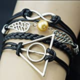HuntGold 1X Fashion Unisex Leather Handcraft Wrist Bracelet Bangle Handlace Wrist Collar