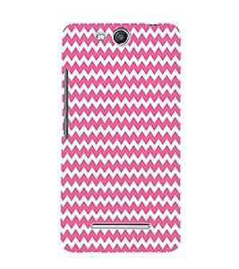 Pink Chevron Design 3D Hard Polycarbonate Designer Back Case Cover for Micromax Canvas Juice 3 Q392