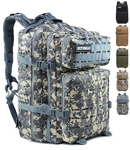 Onyorhan Military Tactical Rucksack Molle Tactical Army Rucksack Tarnung Assault Pack Laser Cut - 40L (ACU)