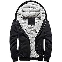 Minetom Herren Winter Warm Vlies Gefüttert Kapuzenpullover Baumwolle Mäntel Weich Jacken Sweatshirts Mit Kapuze Outwear
