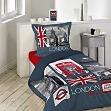 housse de couette london cuisine maison. Black Bedroom Furniture Sets. Home Design Ideas