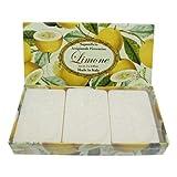 Jabón de limón, pack regalo 3 pastillas de 125 g, Jabón italiano...