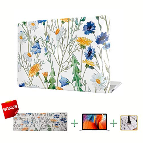 MacBook Case Laptop Hülle Flower Forest Hard Shell Cover Keyboard Cover Screen Protector for MacBook Pro Air Flower 5 MacBook New Pro 15