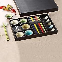 Saflyse Keramik Sushi Set für 5 Personen (Muscheln Muster)
