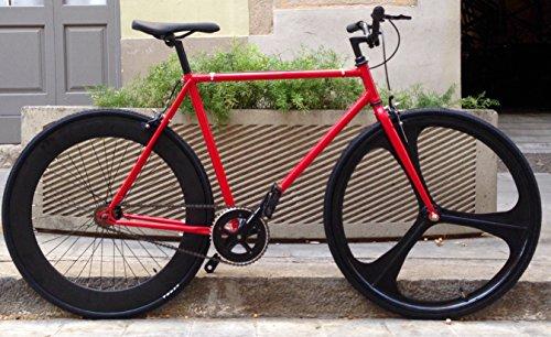 Bicicletta Single Speed fix-3Classic Red Taglia 54cm