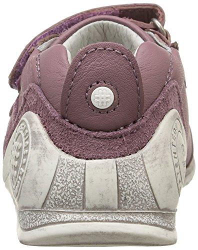BIOMECANICS - Chaussure blanche et lilas, en cuir naturel et suède, idéal pour ramper et pour la première étape, fabriquée avec des matériaux légers, respirables et souples, Fille, Filles Rose