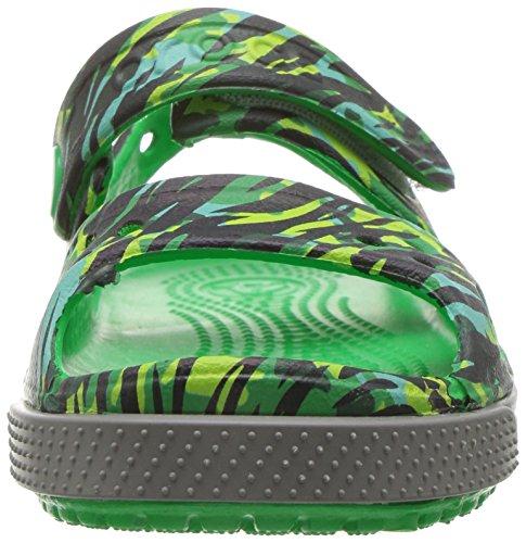 Crocs Crocband Ii Graphic Sandal K Grssgrn, Sabots Mixte Enfant Vert (Grass Green)