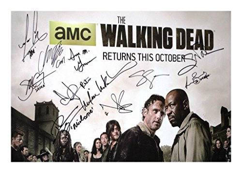 The Walking Dead Season 6 Cast Signiert Autogramme 21cm x 29.7cm Plakat Foto Bilder Von The Walking Dead Cast