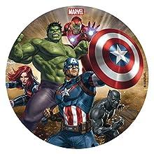 Dekora 231365 - Disco commestibile per decorare torte di compleanno, motivo: Avengers-16 cm