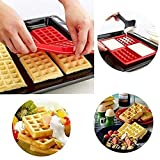 2 Style Nonstick Silicone Waffle Mould Bpa Free Biscuit Waffle Mold Cooking Kitchen Baking Tool Pack of 2