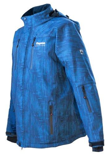 Deproc Active Herren Softshell-Skijacke und Winterjacke für CHICOPEE, blue print, 5XL, 54020-381