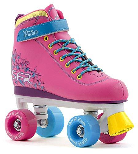 SFR - Rollers/patins à roulettes Vision II pour enfant - tropical - taille 30,5