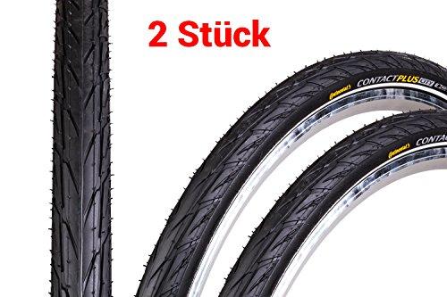 "2 Stück 28\"" Zoll Continental Contact Plus City Reflex Fahrrad Reifen 28x1.6 Mantel 42-622 Decke Tire schwarz"