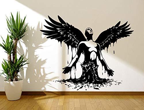 Aufkleber Aufkleber Schlafzimmer Aufkleber Flügel Engel Geboren Männer Große Flügel Engel Gott Wächter Vogel Für Kinder Schlafzimmer Wohnheim 71x57 cm ()