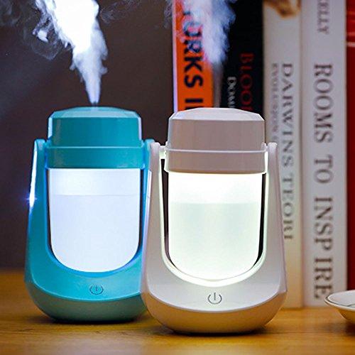 Gaddrt Lampe Luftbefeuchter Mini Nachtlicht LED Luftbefeuchter Luftverteiler Zerstäuber Heizen Kühlen Mobile Heiz Kühlgeräte Luftbefeuchter (White)
