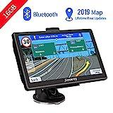 Bluetooth Navi Navigation für Auto Navigationsgerät LKW Navigationssystem PKW 7 Zoll 16GB Kostenloses Kartenupdate mit Freisprecheinrichtung POI Blitzerwarnung Sprachführung Fahrspur 2019 Europa Karte