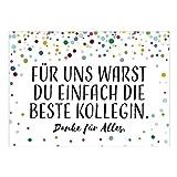 Große XXL Abschiedskarte mit Umschlag/DIN A4/Die beste Kollegin - persönlich/Ruhestand/Kündigung/Neuer Job/Rente/Kollege/Kollegin