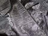 Grau Paisley Stoff Superior Qualität Jacke & Kleid Futter
