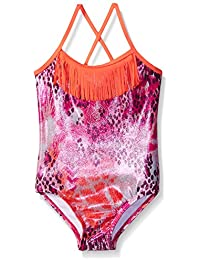 Limited Too Girls' Animal Foil One-Piece Swimsuit