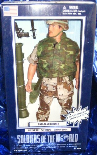 Soldiers of the World Anti-Tank Gunner Desert Storm 12' Action Figure