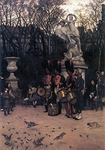 Das Museum Outlet - The Return March In The Tuileries by Tissot, gespannte Leinwand Galerie verpackt. 147,3 x 198,1 cm