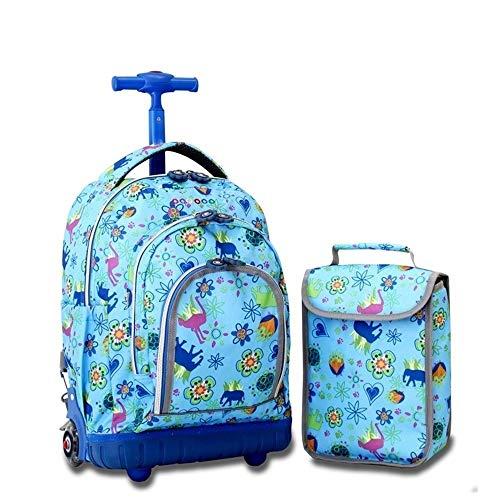 TYUIO Trolley Rucksack Grundschule Rolling Bag Wheeled Waterproof Bookbag für Kinder (Color : Style B) -