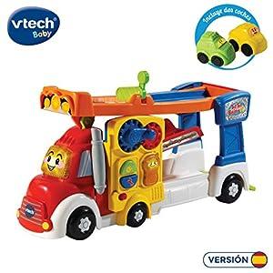 VTech- Super Tráiler TutTut Bólidos Camión Portacoches Interactivo con Rampas De Tres Pisos, Multicolor, Talla Única (3480-521122)