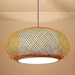 Lámpara de techo de estilo clásico de color natural de madera natural
