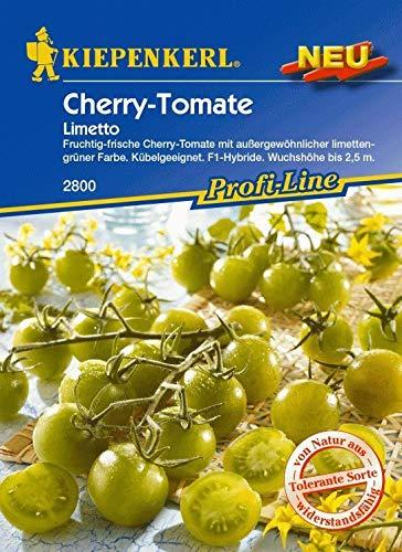 SONIRY Samen-Paket: Kiepenkerl - Cherry-Tomate Limetto 2800 Kirschtomate Limes Grün Co