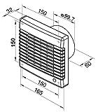 Abluftventilator mit Nachlauf-Timer und elektrischem Innenverschluss, Made in Europe