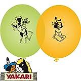 8 Luftballons * YAKARI * für Kinderparty und Kindergeburtstag von DH-Konzept // Indianer Indianerjunge Sioux Kleiner Donner Deko Ballons Party Set