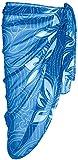 ESMARA® Damen Pareo (blau weiß Punkte floral, ca. B 110 x L 180 cm)